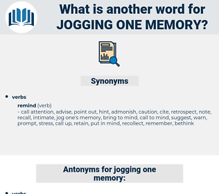 jogging one memory, synonym jogging one memory, another word for jogging one memory, words like jogging one memory, thesaurus jogging one memory