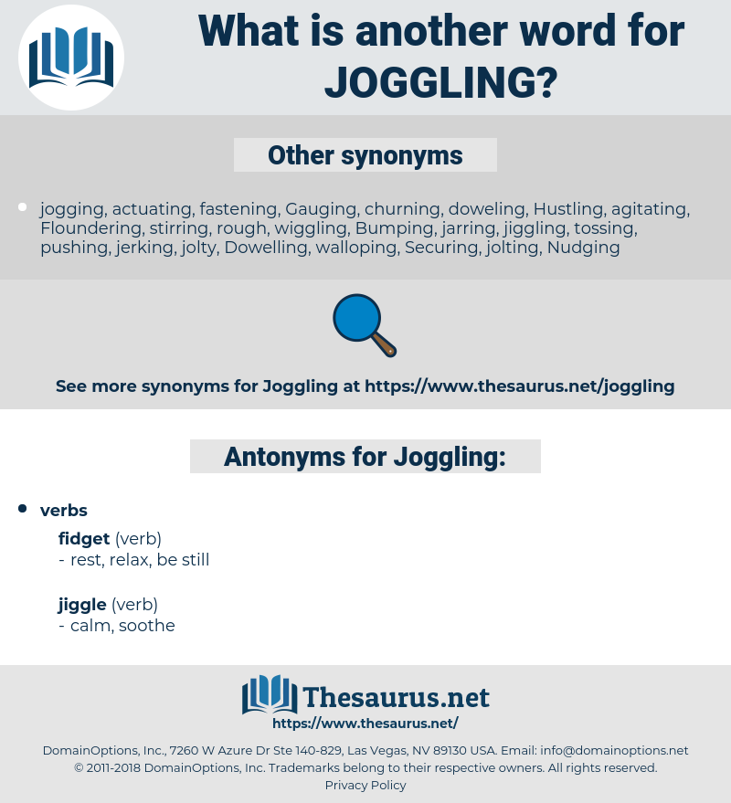 Joggling, synonym Joggling, another word for Joggling, words like Joggling, thesaurus Joggling