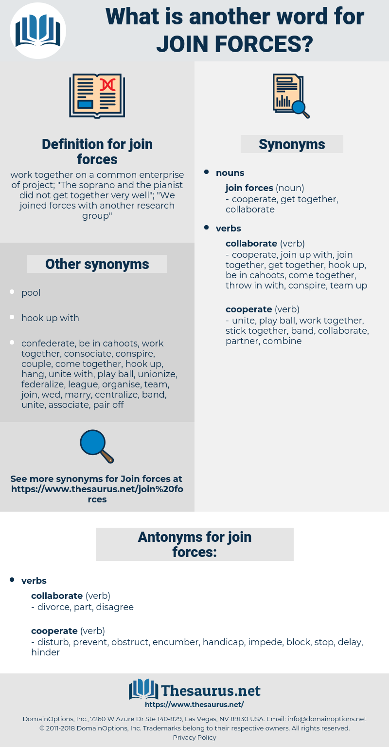 join forces, synonym join forces, another word for join forces, words like join forces, thesaurus join forces