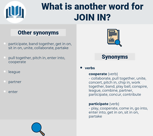 join in, synonym join in, another word for join in, words like join in, thesaurus join in