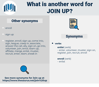 join up, synonym join up, another word for join up, words like join up, thesaurus join up