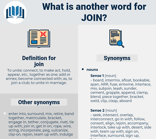 join, synonym join, another word for join, words like join, thesaurus join