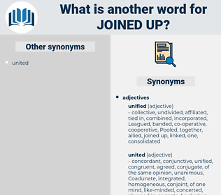 joined up, synonym joined up, another word for joined up, words like joined up, thesaurus joined up