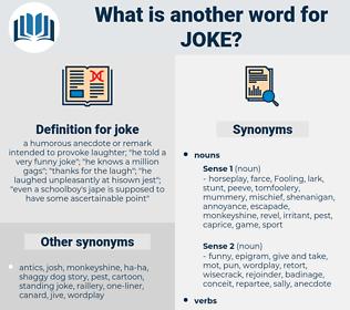 joke, synonym joke, another word for joke, words like joke, thesaurus joke