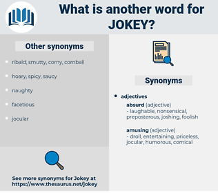 jokey, synonym jokey, another word for jokey, words like jokey, thesaurus jokey