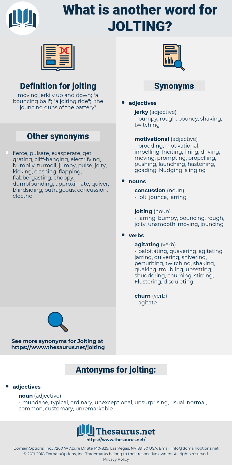 jolting, synonym jolting, another word for jolting, words like jolting, thesaurus jolting