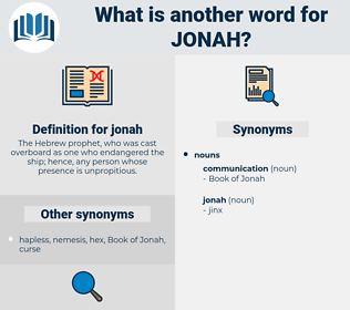 jonah, synonym jonah, another word for jonah, words like jonah, thesaurus jonah