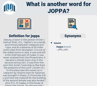 joppa, synonym joppa, another word for joppa, words like joppa, thesaurus joppa