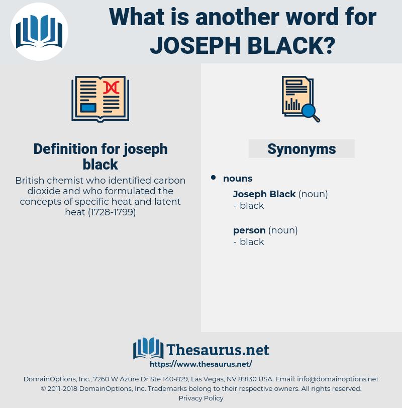 joseph black, synonym joseph black, another word for joseph black, words like joseph black, thesaurus joseph black
