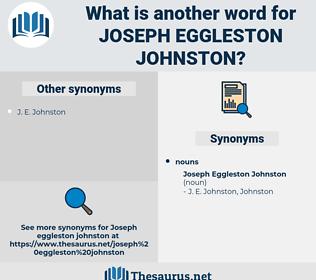 Joseph Eggleston Johnston, synonym Joseph Eggleston Johnston, another word for Joseph Eggleston Johnston, words like Joseph Eggleston Johnston, thesaurus Joseph Eggleston Johnston