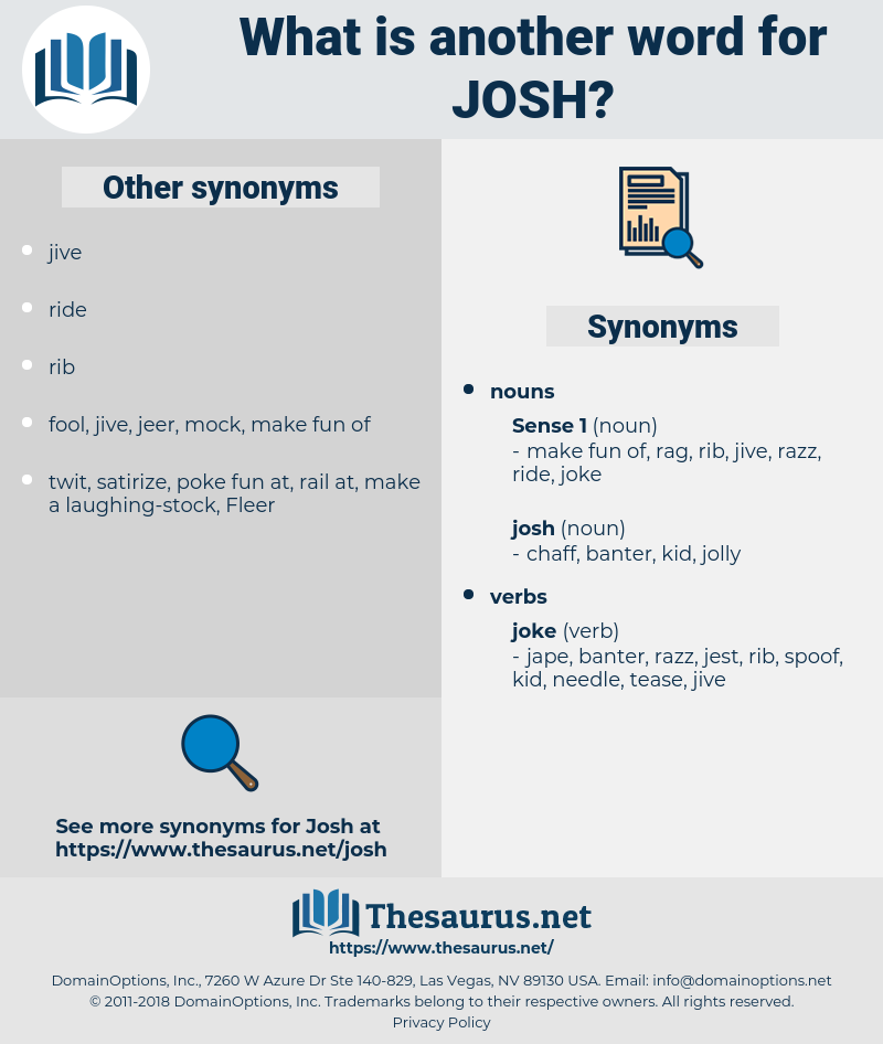 josh, synonym josh, another word for josh, words like josh, thesaurus josh