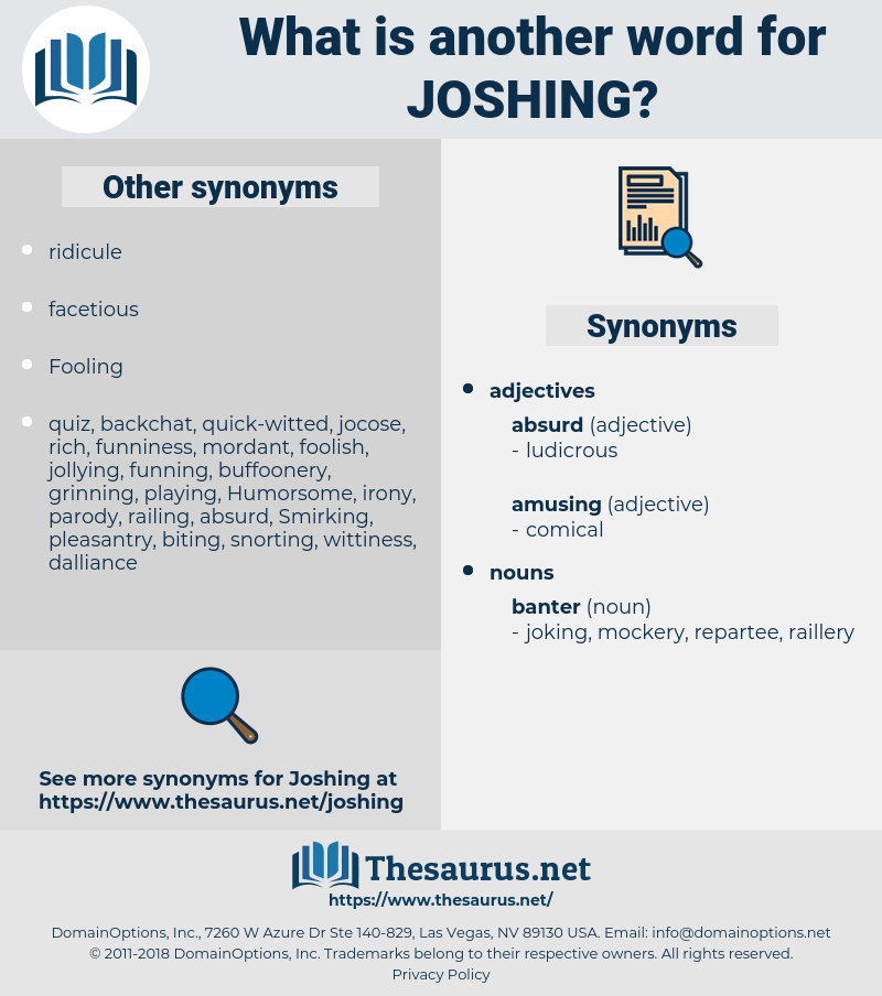 joshing, synonym joshing, another word for joshing, words like joshing, thesaurus joshing