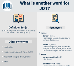 jot, synonym jot, another word for jot, words like jot, thesaurus jot