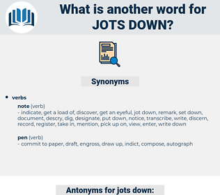 jots down, synonym jots down, another word for jots down, words like jots down, thesaurus jots down