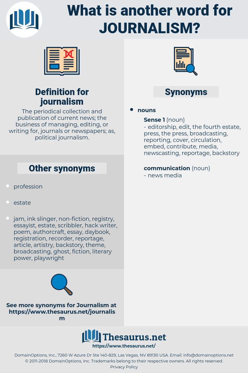 journalism, synonym journalism, another word for journalism, words like journalism, thesaurus journalism