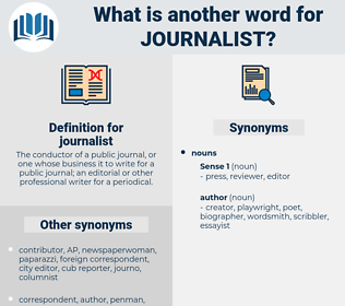 journalist, synonym journalist, another word for journalist, words like journalist, thesaurus journalist