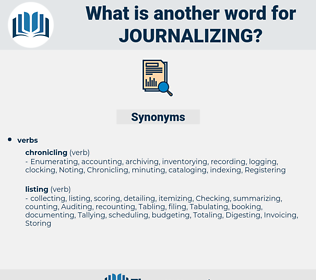 Journalizing, synonym Journalizing, another word for Journalizing, words like Journalizing, thesaurus Journalizing