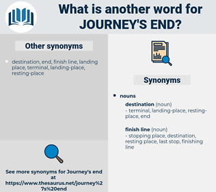 journey's end, synonym journey's end, another word for journey's end, words like journey's end, thesaurus journey's end