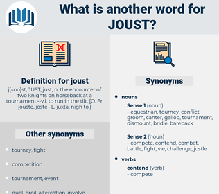 joust, synonym joust, another word for joust, words like joust, thesaurus joust