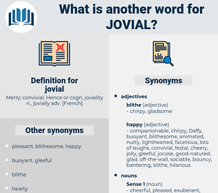 jovial, synonym jovial, another word for jovial, words like jovial, thesaurus jovial