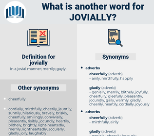 jovially, synonym jovially, another word for jovially, words like jovially, thesaurus jovially