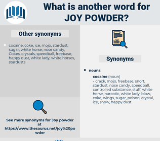 joy powder, synonym joy powder, another word for joy powder, words like joy powder, thesaurus joy powder