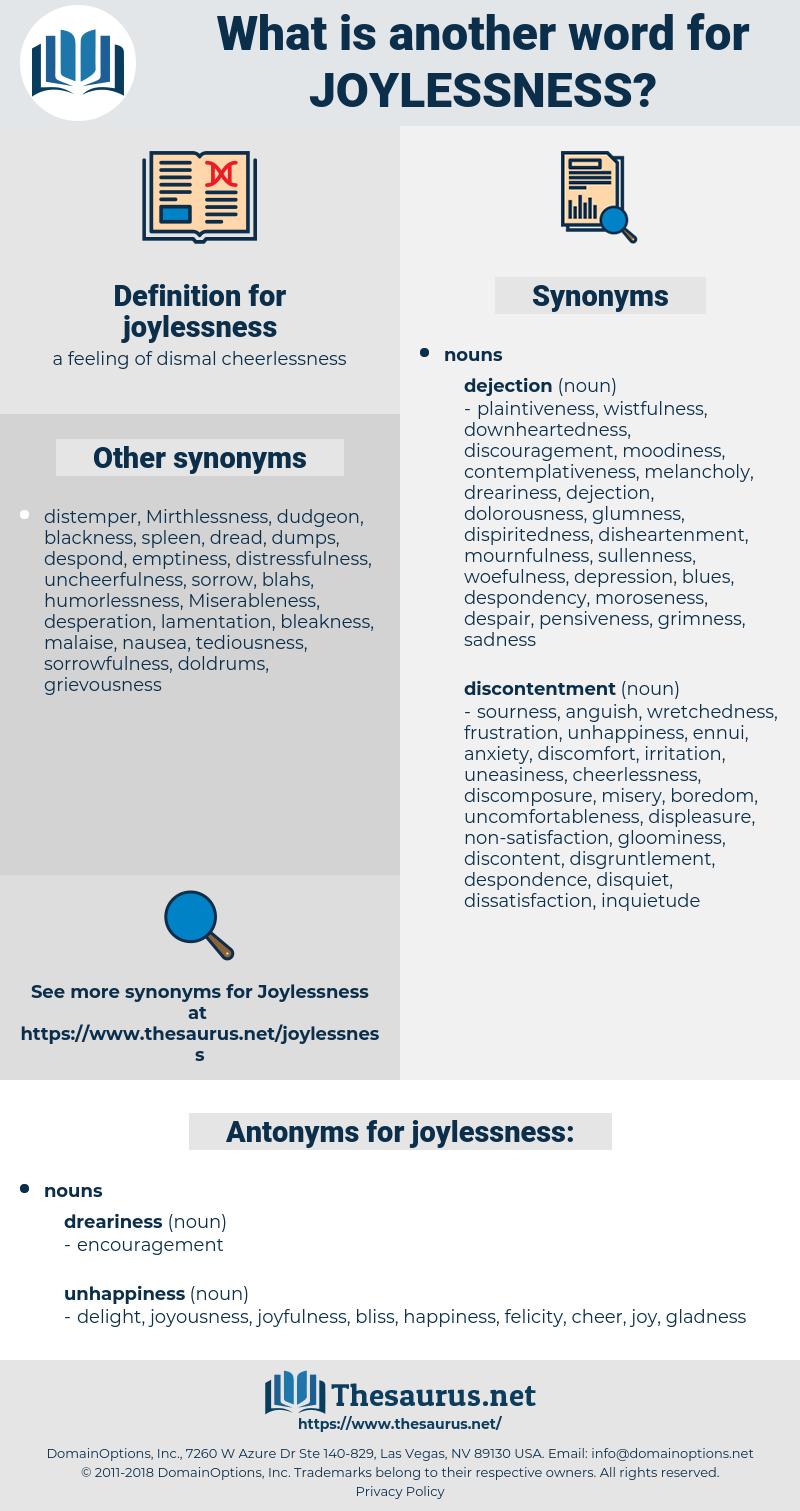 joylessness, synonym joylessness, another word for joylessness, words like joylessness, thesaurus joylessness