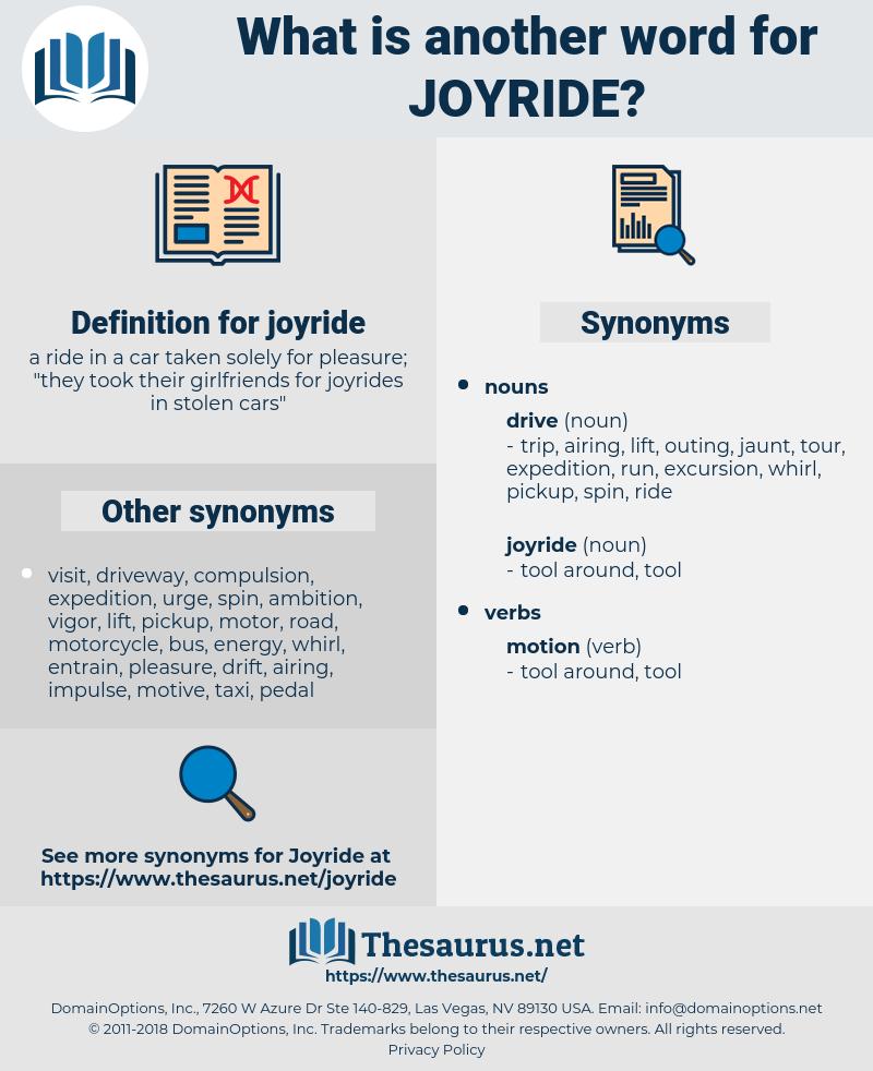 joyride, synonym joyride, another word for joyride, words like joyride, thesaurus joyride
