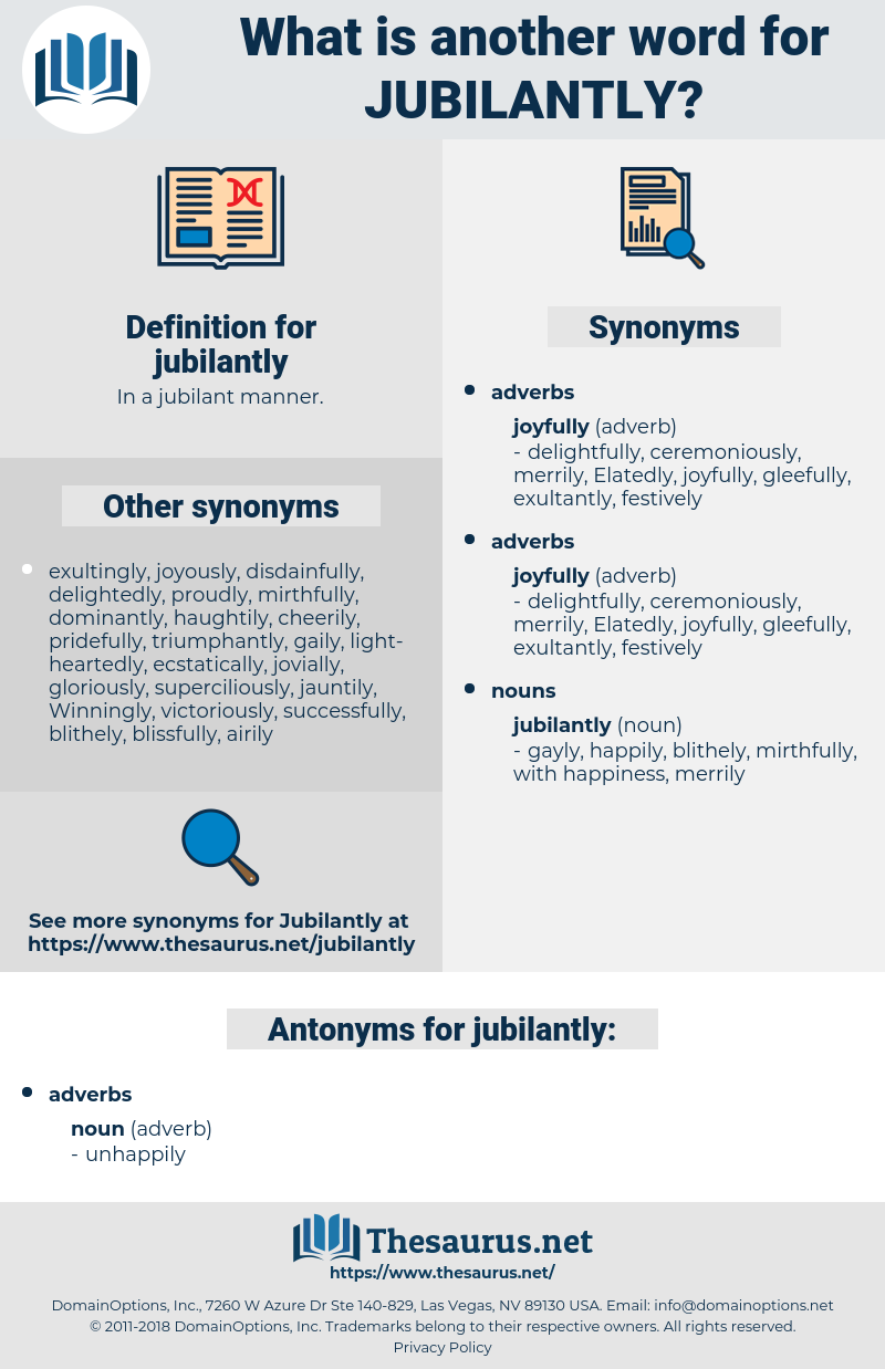 jubilantly, synonym jubilantly, another word for jubilantly, words like jubilantly, thesaurus jubilantly