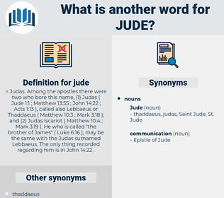jude, synonym jude, another word for jude, words like jude, thesaurus jude