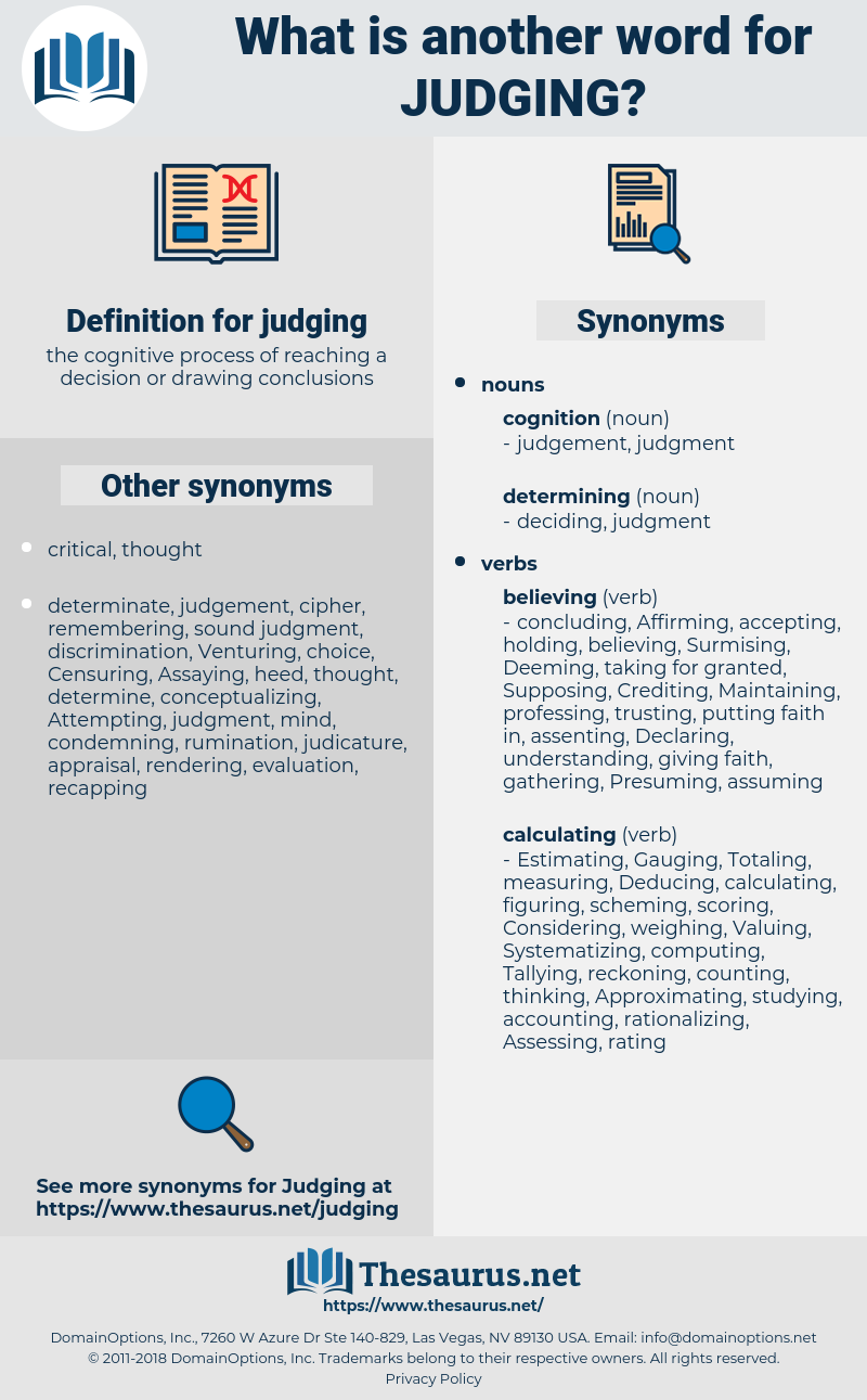 judging, synonym judging, another word for judging, words like judging, thesaurus judging