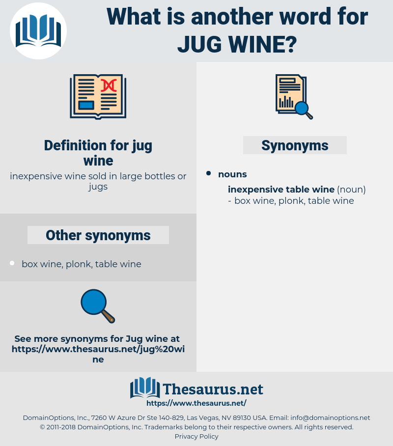 jug wine, synonym jug wine, another word for jug wine, words like jug wine, thesaurus jug wine