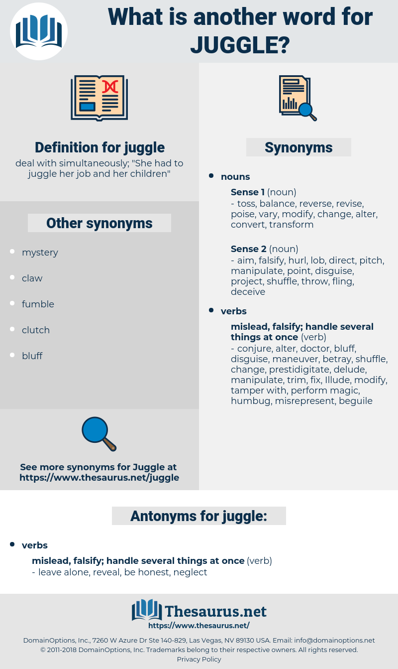 juggle, synonym juggle, another word for juggle, words like juggle, thesaurus juggle