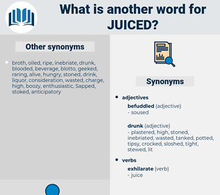 juiced, synonym juiced, another word for juiced, words like juiced, thesaurus juiced