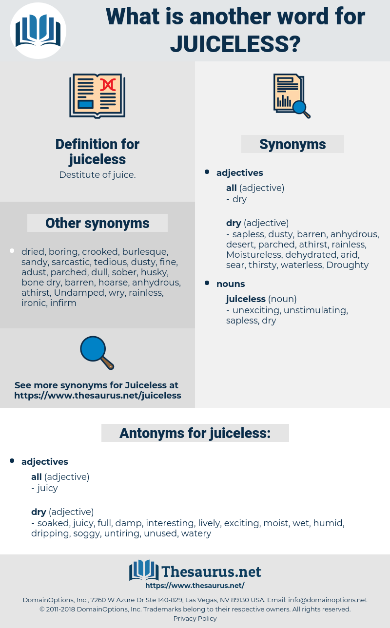 juiceless, synonym juiceless, another word for juiceless, words like juiceless, thesaurus juiceless