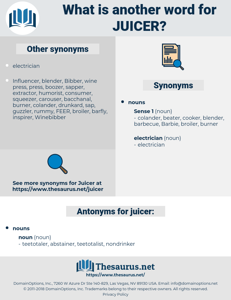 juicer, synonym juicer, another word for juicer, words like juicer, thesaurus juicer