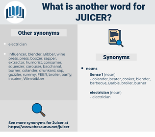 juicer, synonym juicer, another word for juicer, words like juicer, thesaurus juicer