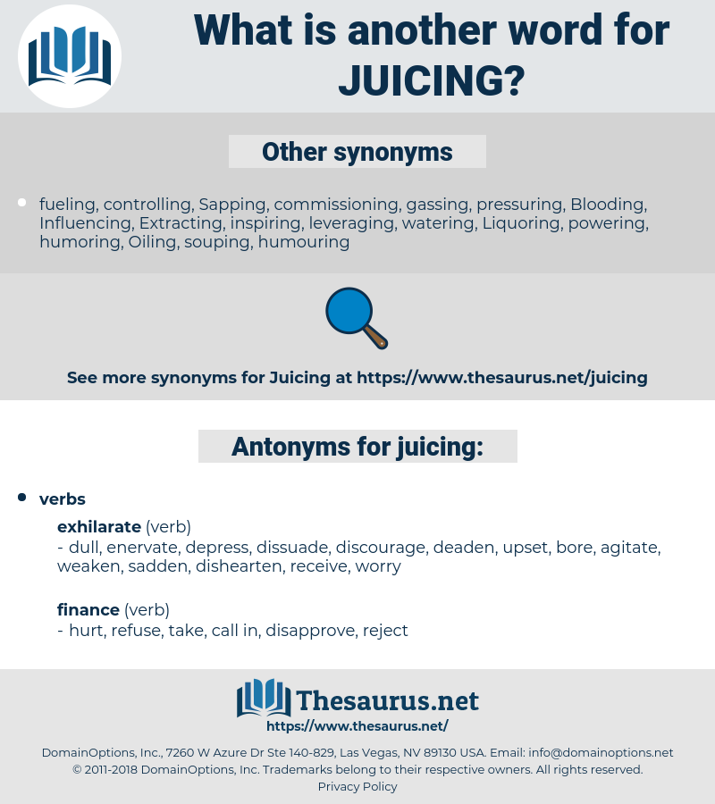 juicing, synonym juicing, another word for juicing, words like juicing, thesaurus juicing