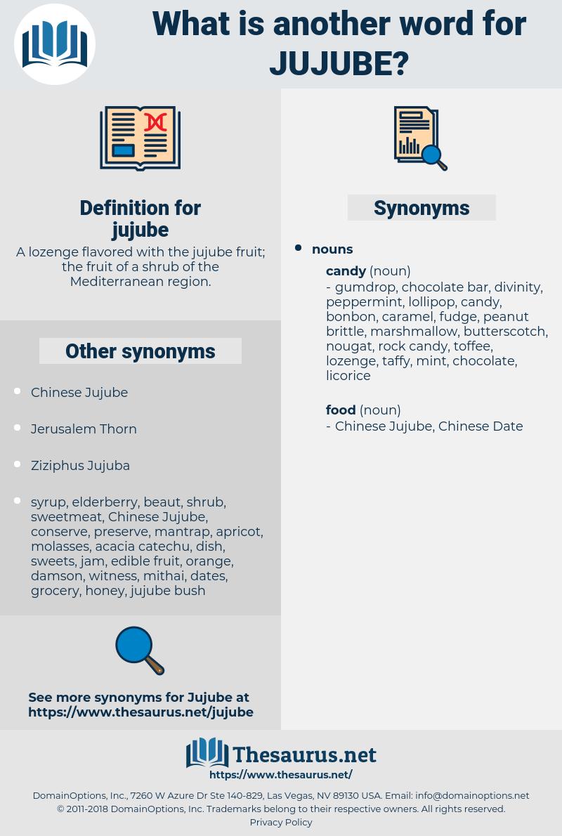 jujube, synonym jujube, another word for jujube, words like jujube, thesaurus jujube