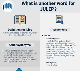 julep, synonym julep, another word for julep, words like julep, thesaurus julep
