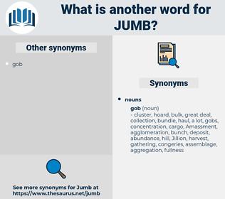jumb, synonym jumb, another word for jumb, words like jumb, thesaurus jumb