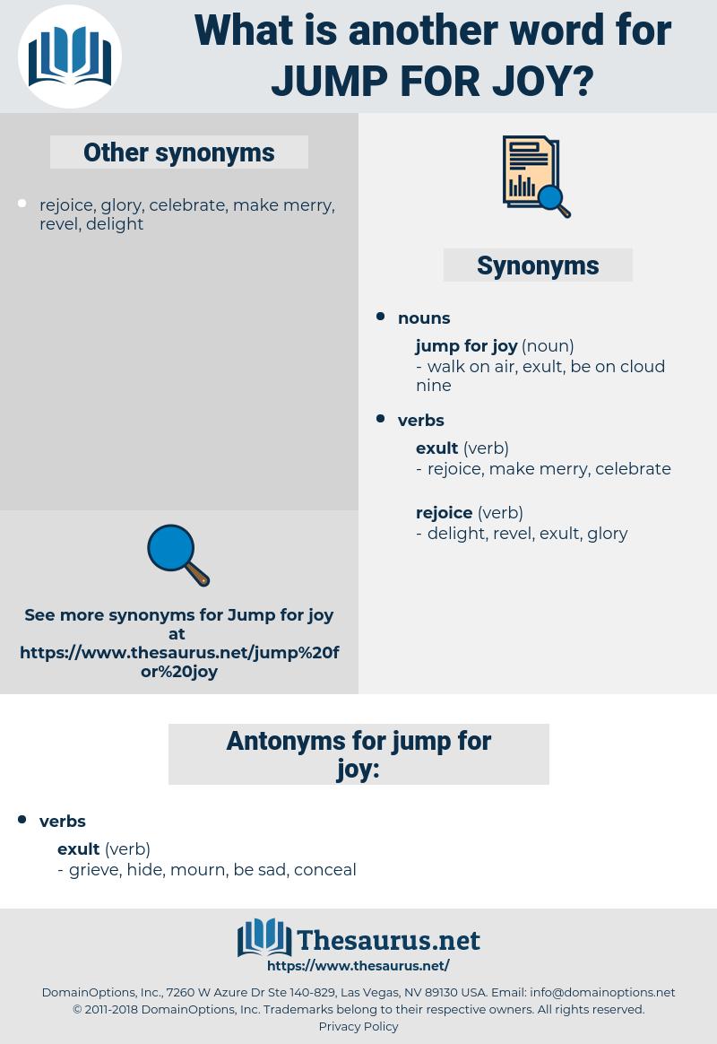 jump for joy, synonym jump for joy, another word for jump for joy, words like jump for joy, thesaurus jump for joy