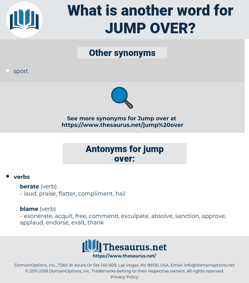 jump over, synonym jump over, another word for jump over, words like jump over, thesaurus jump over