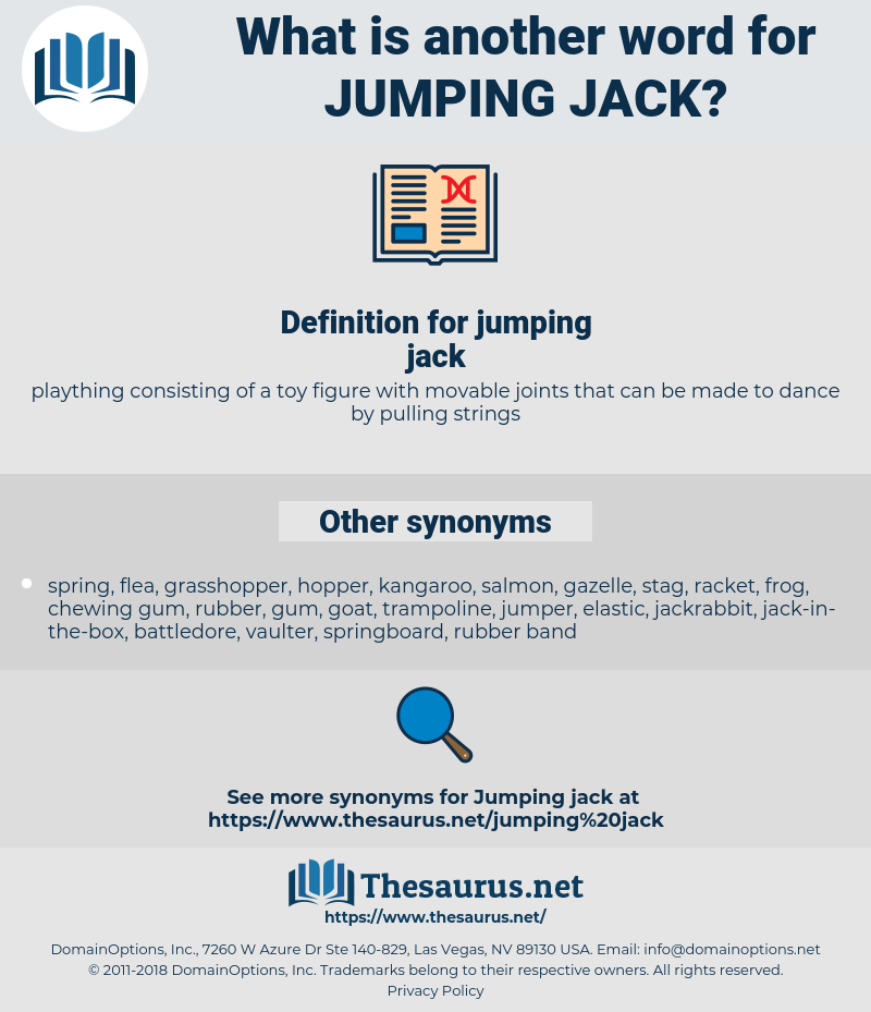 jumping jack, synonym jumping jack, another word for jumping jack, words like jumping jack, thesaurus jumping jack
