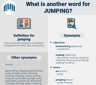 jumping, synonym jumping, another word for jumping, words like jumping, thesaurus jumping