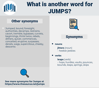 jumps, synonym jumps, another word for jumps, words like jumps, thesaurus jumps
