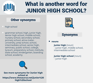 junior high school, synonym junior high school, another word for junior high school, words like junior high school, thesaurus junior high school