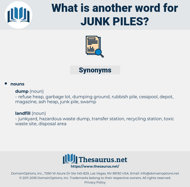 junk piles, synonym junk piles, another word for junk piles, words like junk piles, thesaurus junk piles