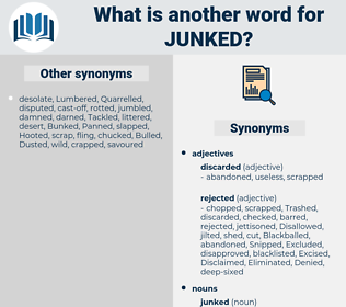 junked, synonym junked, another word for junked, words like junked, thesaurus junked