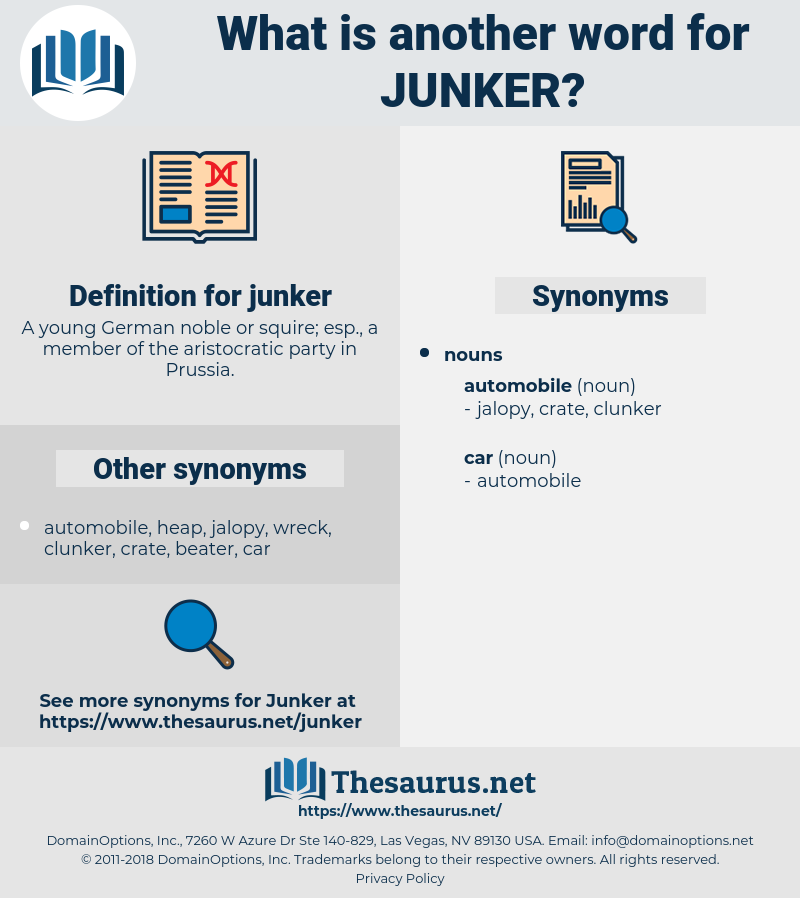 junker, synonym junker, another word for junker, words like junker, thesaurus junker